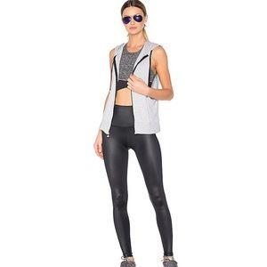 Beyond Yoga Gloss Over High Waist Legging in Black Gloss